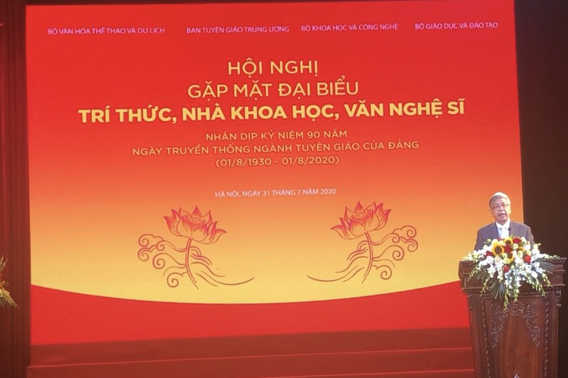 Chủ tịch LHHVN Đặng Vũ Minh phát biểu tại Hội nghị