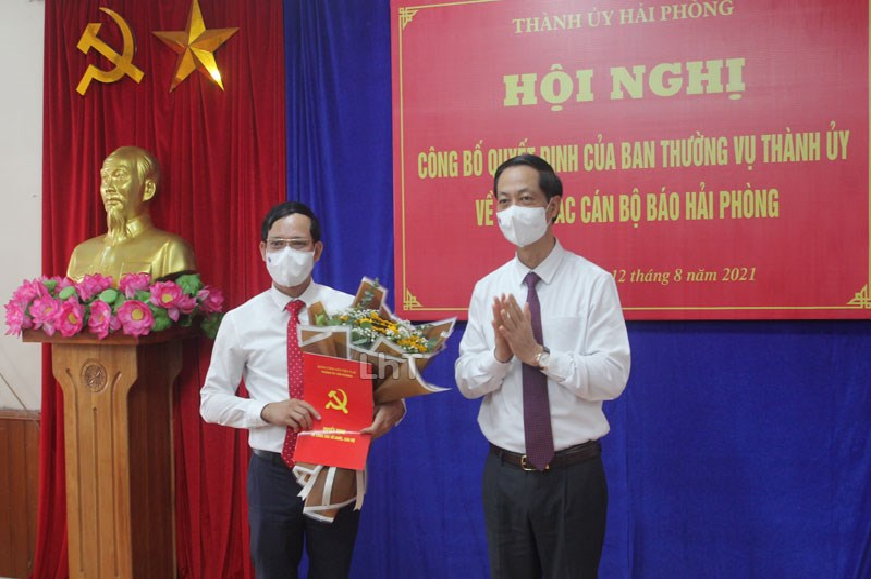 Đồng chí Nguyễn Hồng Dương giữ chức vụ Phó Tổng Biên tập Báo Hải Phòng
