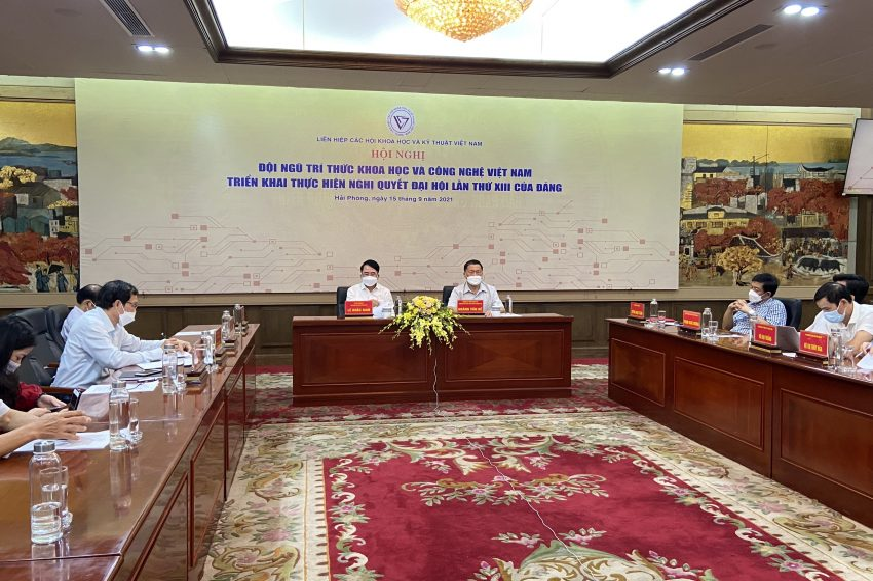 """Hội nghị trực tuyến toàn quốc """"Đội ngũ trí thức khoa học và công nghệ Việt Nam triển khai thực hiện Nghị quyết Đại hội lần thứ XIII của Đảng"""""""